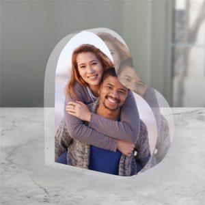 acrylic heart frame